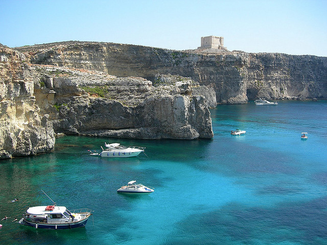 by Graphicview Photo on Flickr.The Blue Lagoon - Camino Island, Malta.