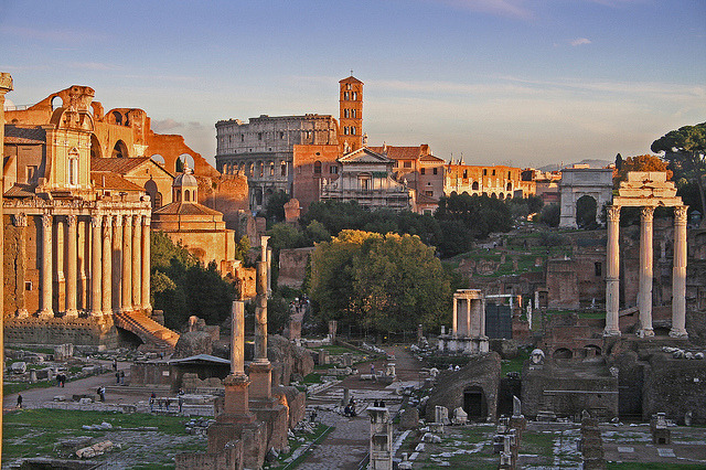 by Giovanni Pilone on Flickr.The Eternal City of Rome seen from Foro Romano ruins.