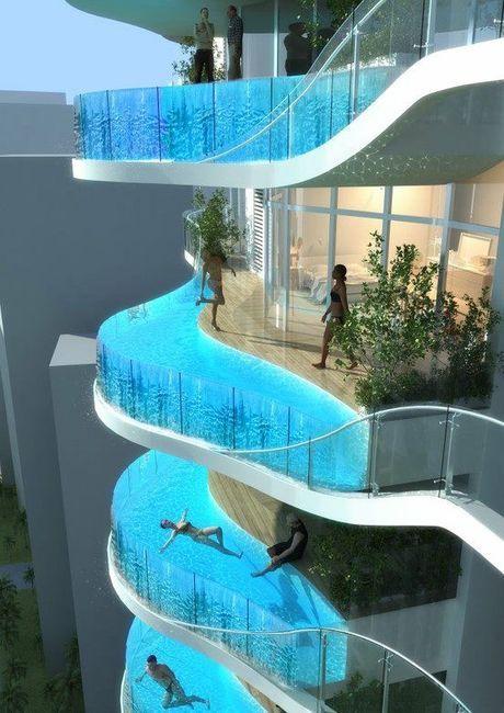 Floating Balcony Pools, Mumbai, India