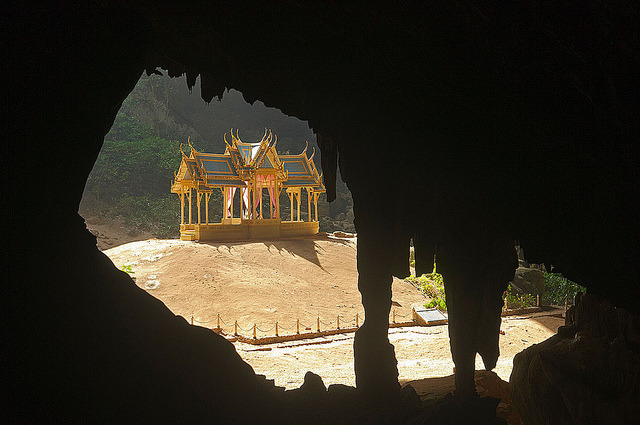 The throne pavilion in Phraya Nakhon Cave, Khao Sam Roi Yot National Park in Thailand