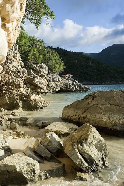 Caribbean shores at Labadee beach, Haiti