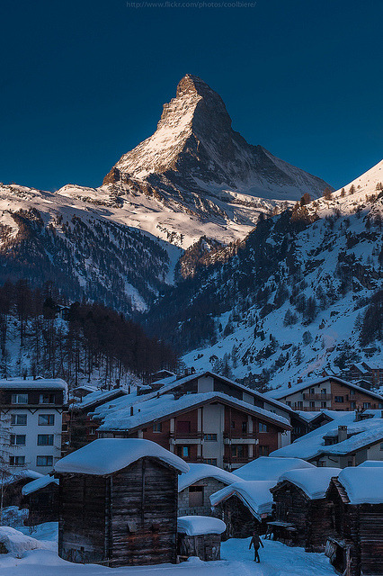 Winter in Zermatt, Switzerland