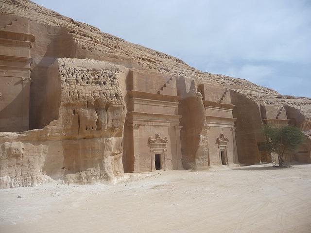 The Nabatean tombs of Mada'in Saleh in Saudi Arabia