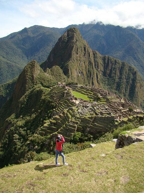 Admiring the wonder, Machu Picchu, Peru
