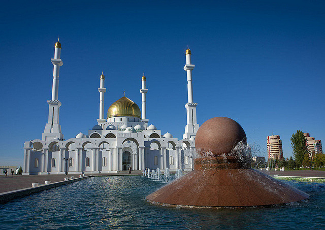 The Nur-Astana Mosque is the largest mosque of Kazakhstan and the biggest mosque in Central Asia. The 40-meter height symbolizes the age of the Prophet Muhammad of...