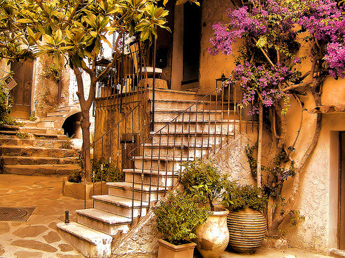 Stairs, Cote d'Azur, France