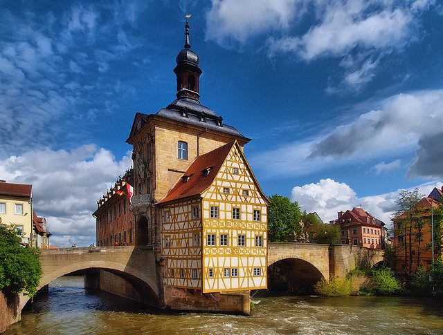 Bamberg is a city in Bavaria, Germany. It is located in Upper Franconia on the river Regnitz. Bamberg is one of the few cities in Germany that was not destroyed by...