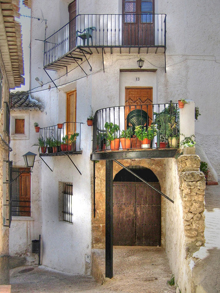 Balconies, Letur, Spain