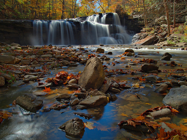 by Bill Fultz on Flickr.Brush Creek Falls - Brush Creek State Park, West Virginia, USA.