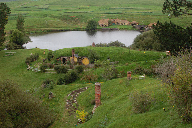 by HTG Events on Flickr.LOTR filming locations. Hobbiton Village in Matamata, New Zealand.