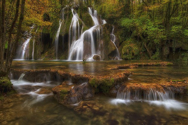 by Philippe Saire on Flickr.Cascade des Tuffs in Jura mountains, France.