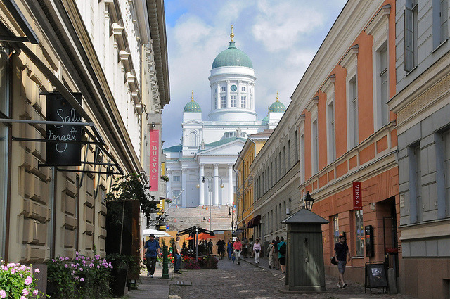 by marthinotf on Flickr.On the streets of Helsinki, the capital city of Finland.