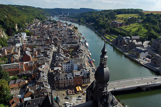 by Boobooo on Flickr.The city of Dinant on Meuse river - Wallonia, Belgium.