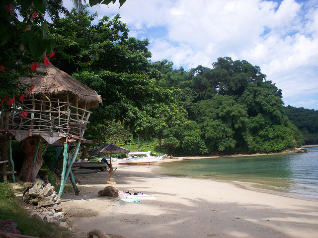 by Khmanglo on Flickr.Beach in Puerto Galera, Mindoro, Philippines.