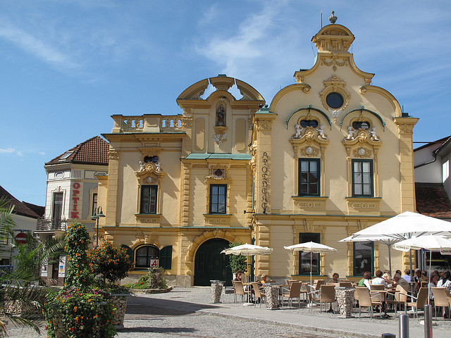 by Andra MB on Flickr.Town Square in Hartberg, a beautiful small town in Styria, Austria.