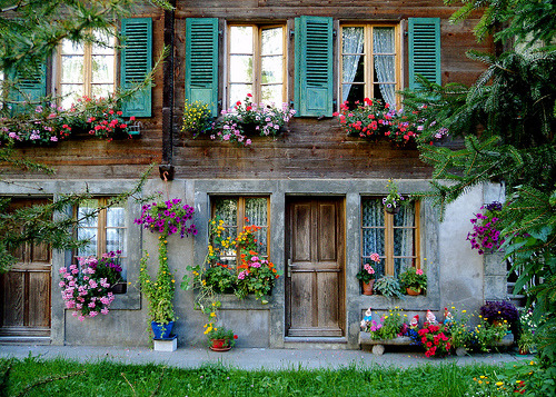 Floral Entry, Lauterbrunnen, Switzerland