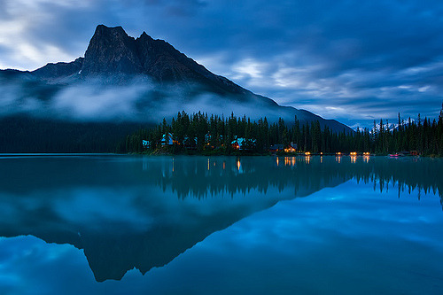 Reflection, Emerald Lake,  British Columbia, Canada