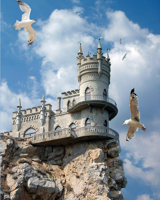 The Swallow's Nest Castle near Yalta, Ukraine.