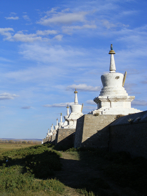 The great wall of Erdene Zuu Khiid, the oldest buddhist monastery in Mongolia