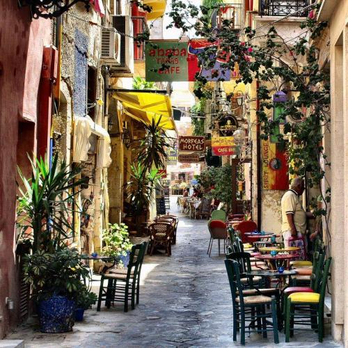 "sade-gabrielle:"" Chania Street, Isle of Crete, Greece"""