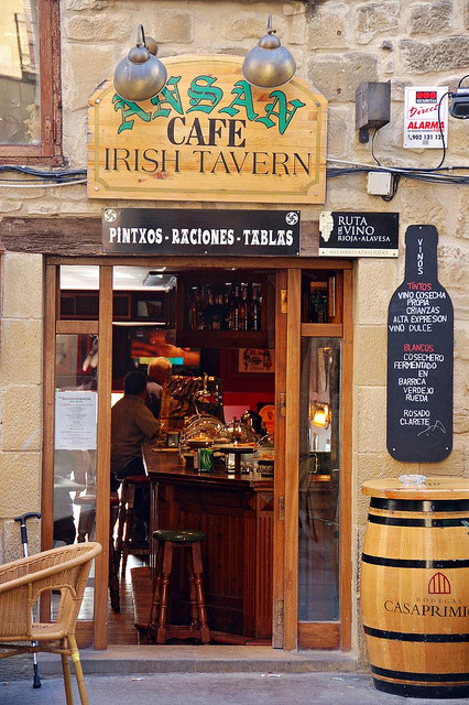 Irish tavern on a spanish town, Laguardia, Rioja, Spain