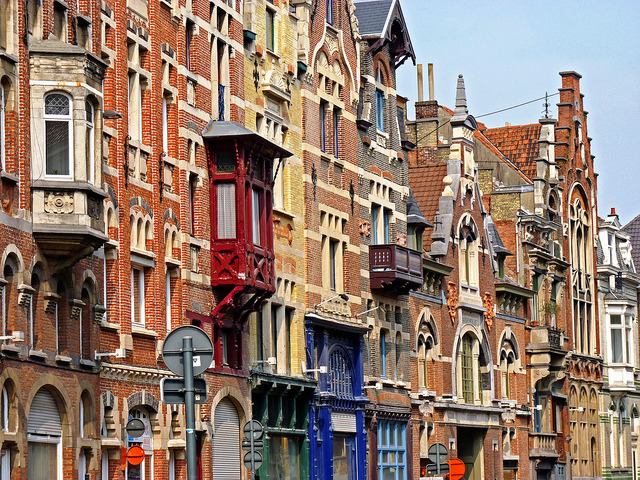 Colourful streets of Ghent, Belgium