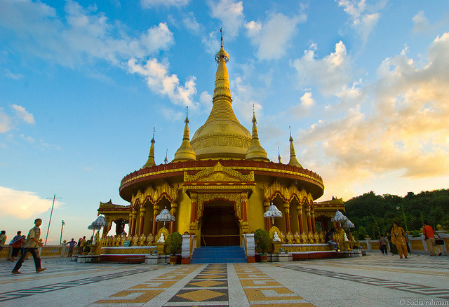 Golden Temple located at Balaghata in Bandarban, Bangladesh