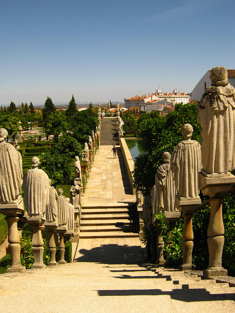 Episcopal gardens in Castelo Branco, Portugal