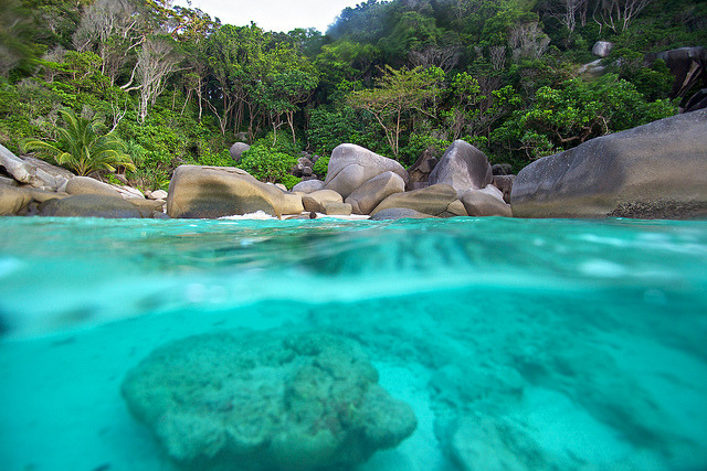 Secret Cove in Similan Islands, Thailand