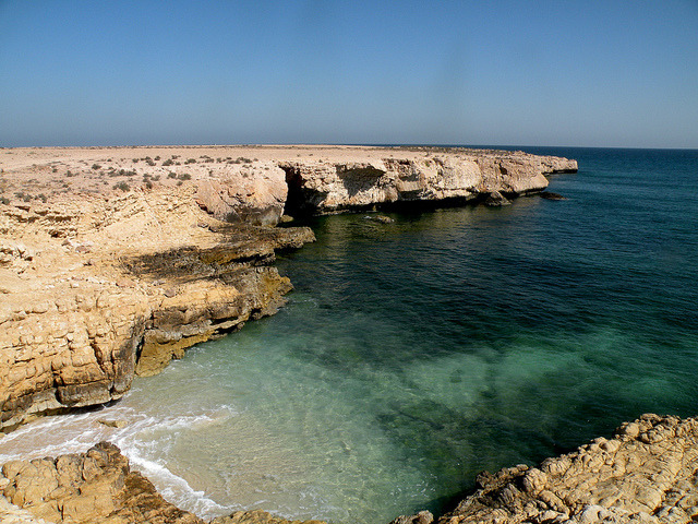 Arabian Sea at Fins Cliffs, Oman