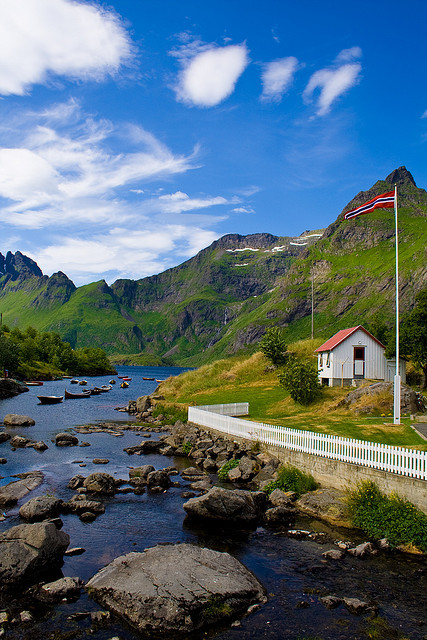Summer days in Lofoten Islands, Norway