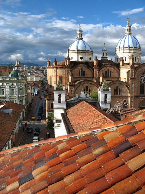 Rooftop view in Cuenca, Ecuador