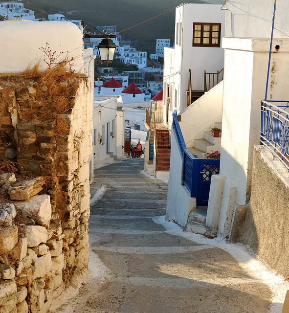 Walking around in Astypalea, Dodecanese Islands, Greece