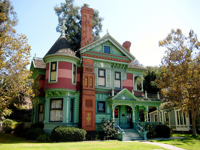 The Hale House, victorian building in Los Angeles, California, USA