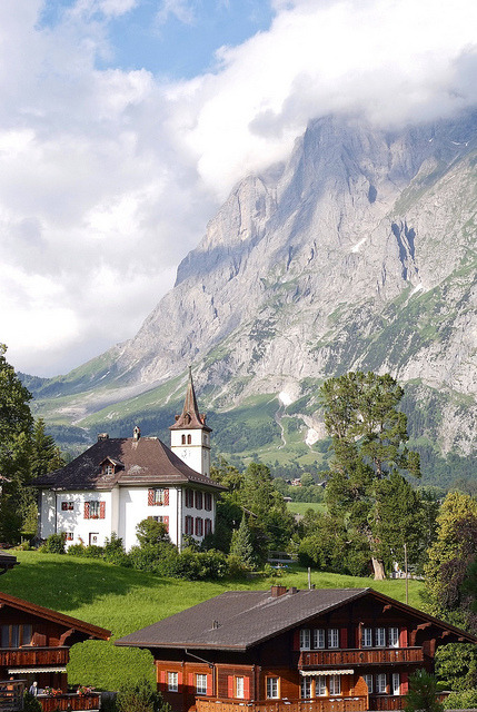 Lovely scenery in Grindelwald, Bern Canton, Switzerland