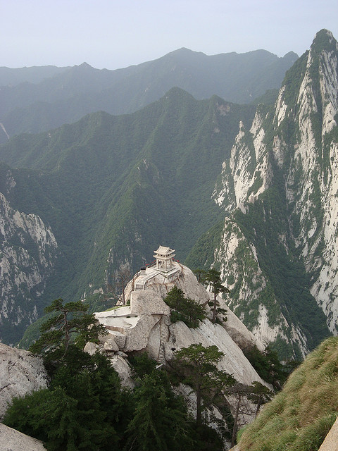 Xiaqi Pavilion in Hua Shan, the sacred mountain of Shaanxi Province, China