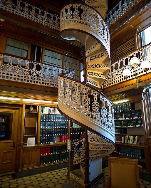 One of the most beautiful law libraries in the world, Iowa State Law Library, USA