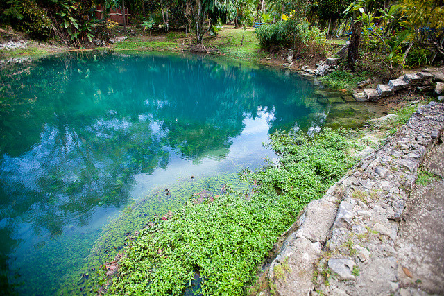 The Blue Hole in Westmoreland, Jamaica