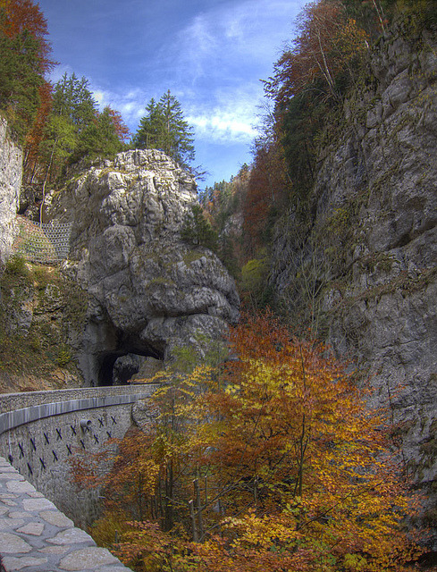 Autumn colors in Gorges de la Bourne, Vercors, France