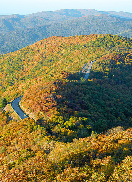 Skyline Drive in Shenandoah National Park, Virginia, USA