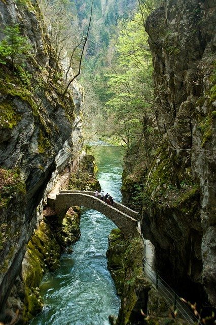 Stone Bridge, Gorges de l'Areuse, Switzerland