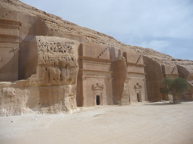 The Nabatean tombs of Mada'in Saleh in Saudi Arabia