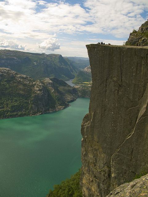 Preikestolen , one of the most famous tourist attractions in Norway