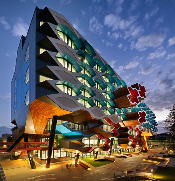 The Sculptural Molecular Science Complex at La Trobe University near Melbourne, Australia