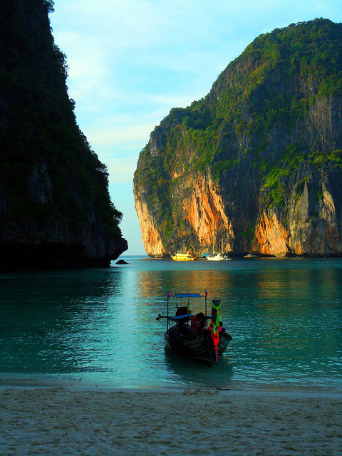 Maya Bay in Phi Phi Leh Islands, Thailand