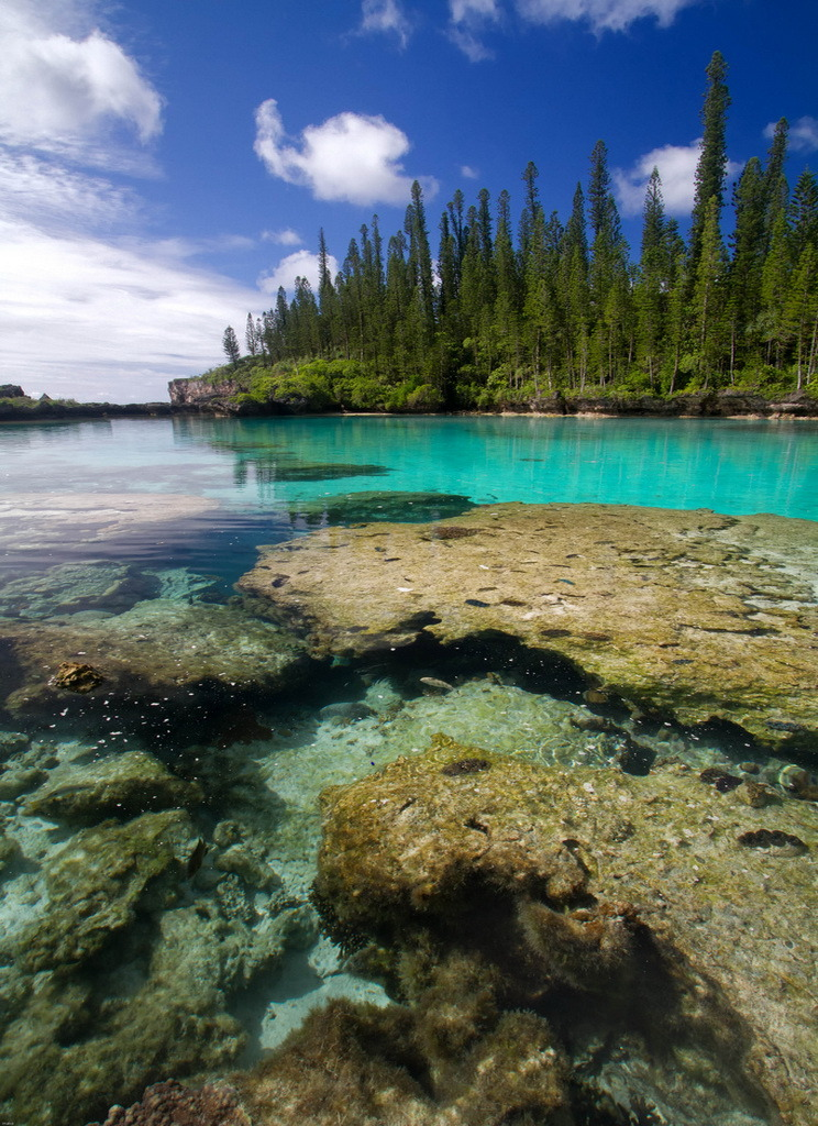 Natural swimming pool in Ile de Pins, New Caledonia