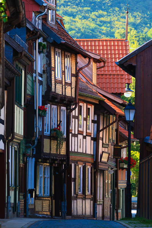 Beautiful timber-frame houses in Wernigerode, Germany