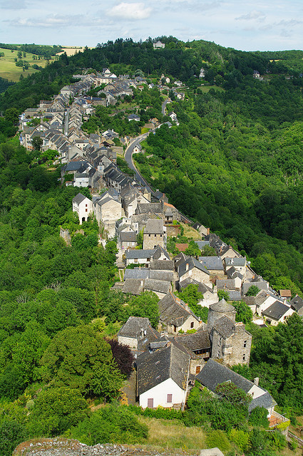 The picturesque medieval village of Najac in southern France