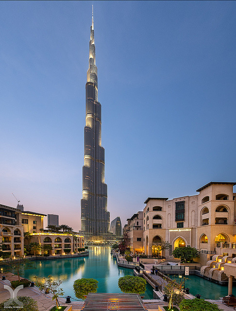 The tallest man-made structure in the world, Burj Khalifa in Dubai, UAE