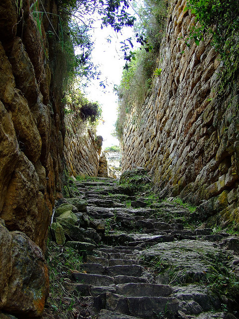 Entrance to Kuelap, the great fortress of the chachapoyas, Peru